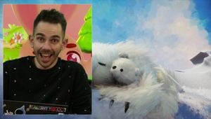 Tom Dent and two polar bears from Dreams