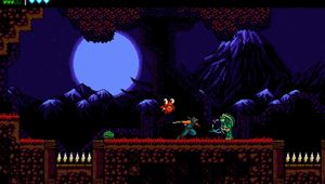 Picture of a pixelated ninja running around in The Messenger
