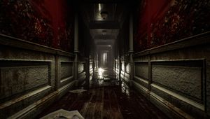Screenshot of a hallway in Layers of Fear 2