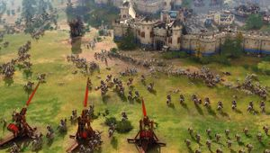 age of empires IV screenshot showing a big battle