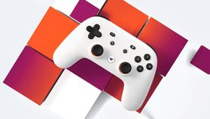 artwork showing stadia controller on abstract background