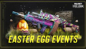 Call of Duty: Mobile screenshot showing colorful Easter skins