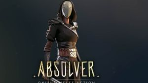 Picture of a character with a mask posing for a Absolver's promotional poster