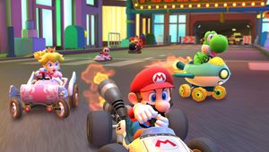Mario, Peach and Yoshi in Mario Kart Tour
