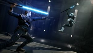 Cal force pushing an enemy in Star Wars Jedi: Fallen Order