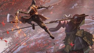 A samurai attacking a monster in Sekiro: Shadows Die Twice