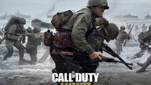 Soldiers on a beach in Call of Duty: WWII