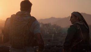 call of duty modern warfare screenshot showing two characters