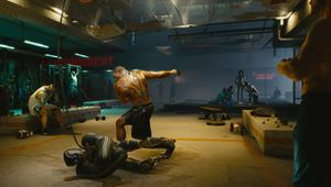 A fight club in the world of Cyberpunk 2077.