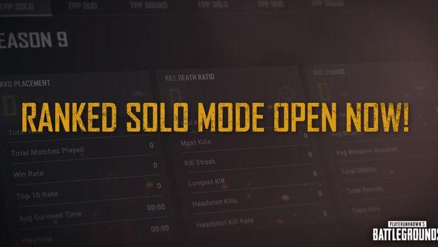 PUBG - Ranked Solo Mode