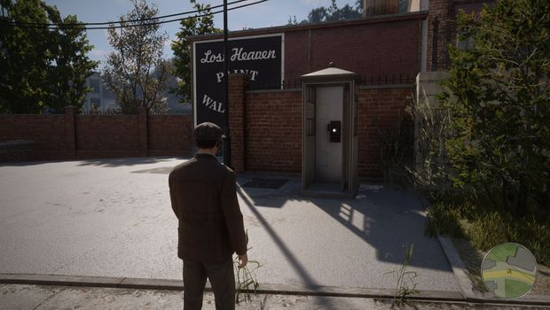 "Mafia Definitive Edition - ""Crazy Horse"" guide showing phone-booth location"