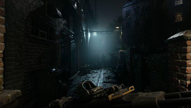 Call of Duty: Modern Warfare screenshot showing a dark alley