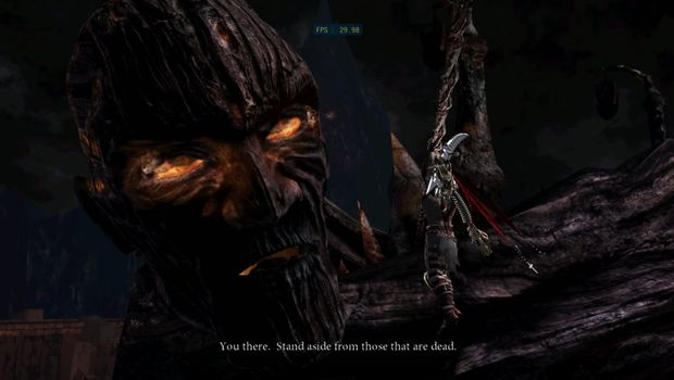 Dante's Inferno screenshot showing a demon fight