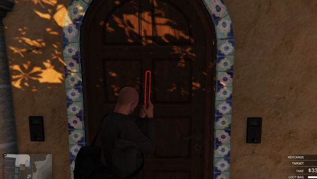 GTA Online - The gun does not need to be perfectly parallel to the door but it must be in the middle