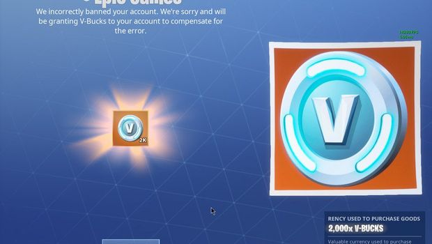 Epic Giving Bucks Falsely Banned Players