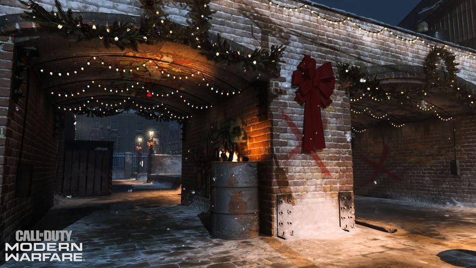 Call of Duty: Modern Warfare - Winter Docks archway