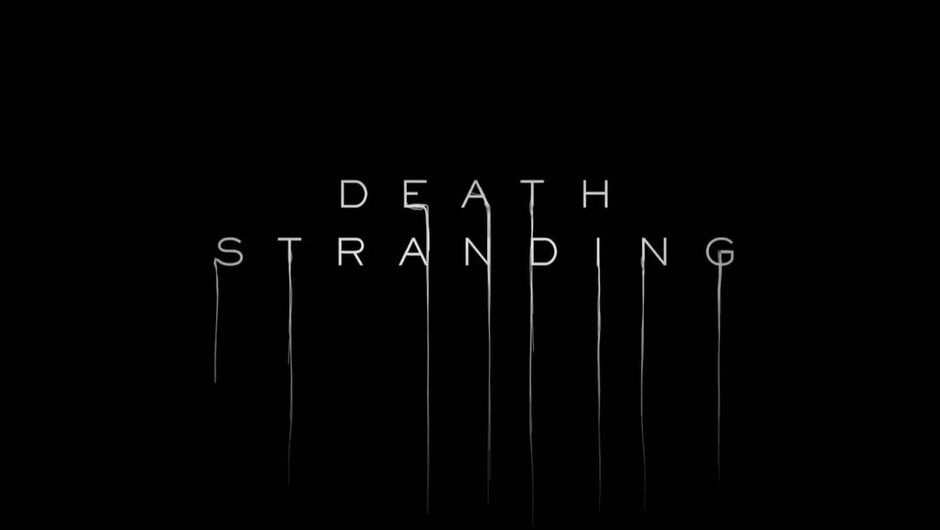 Black background with Death Stranding in white letters
