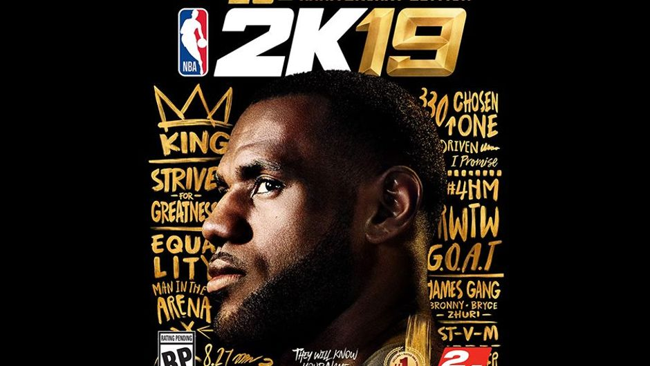 LeBron James graces the cover of the special 20th Anniversary Edition of 2K Sports' NBA 2K19