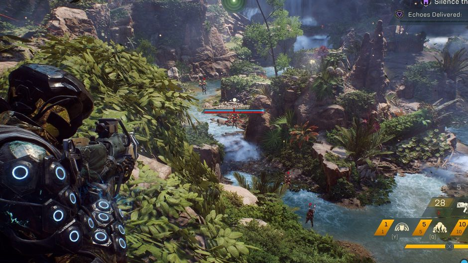 picture showing anthem combat
