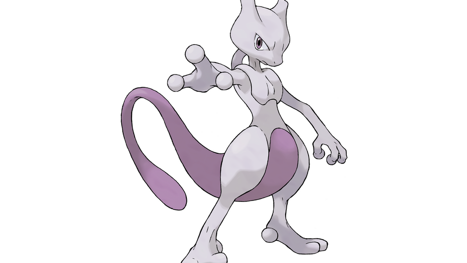 Mewtwo striking a pose