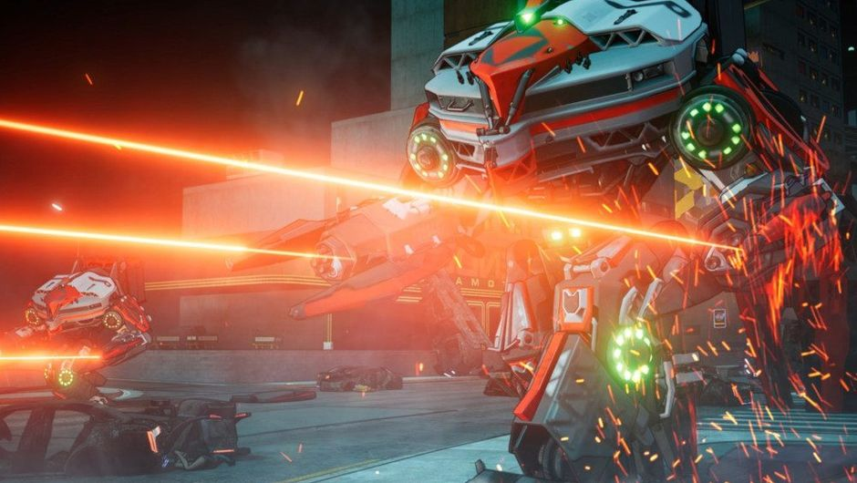 picture showing robots firing lasers