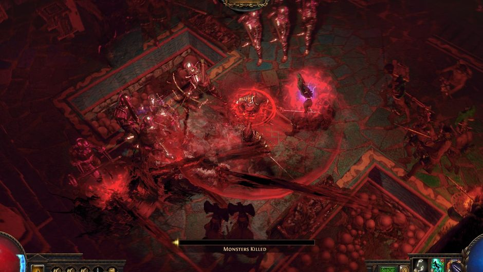 Screenshot of a player is committing a virtual genocide in Path of Exile