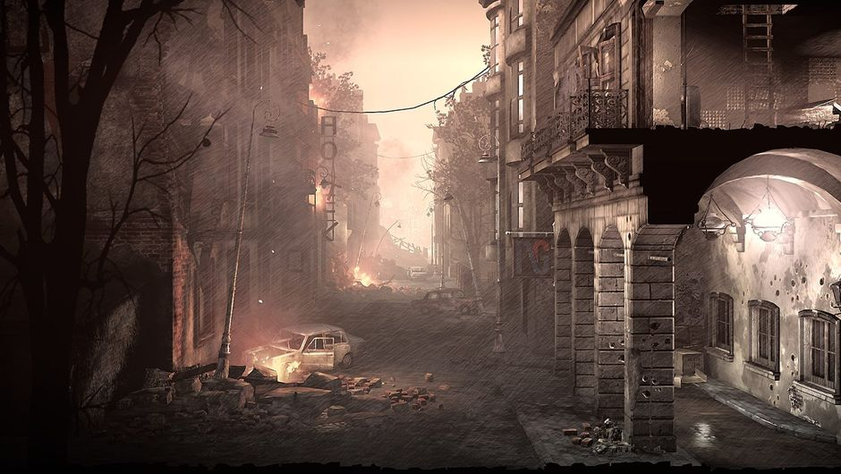 Picture of a war torn city in This War of Mine