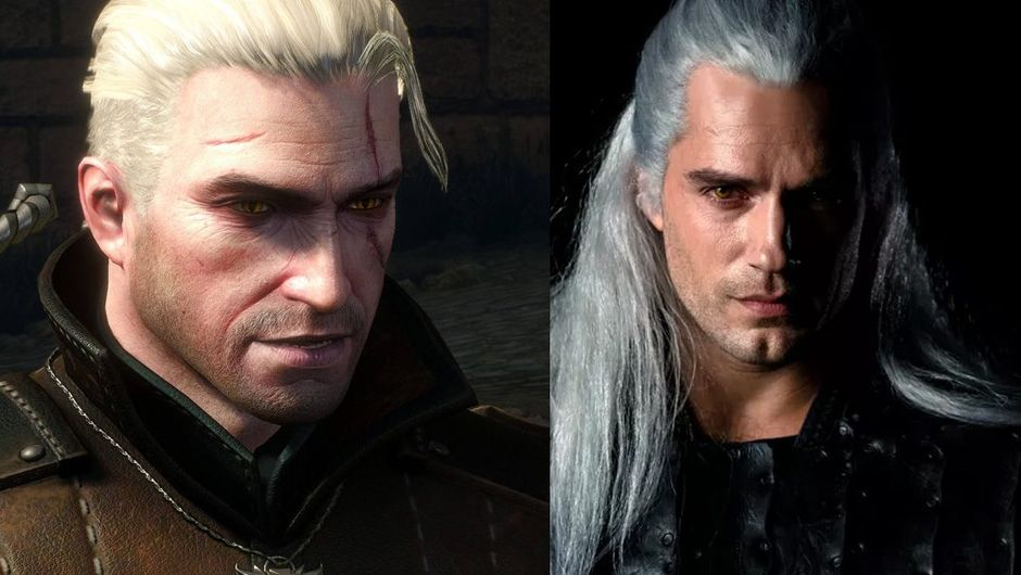 picture showing character from The Witcher 3 with Henry Cavill as Geralt