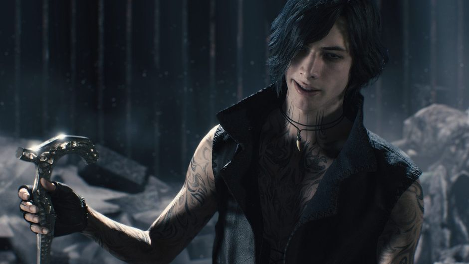 Picture of demon hunter V in Devil May Cry 5