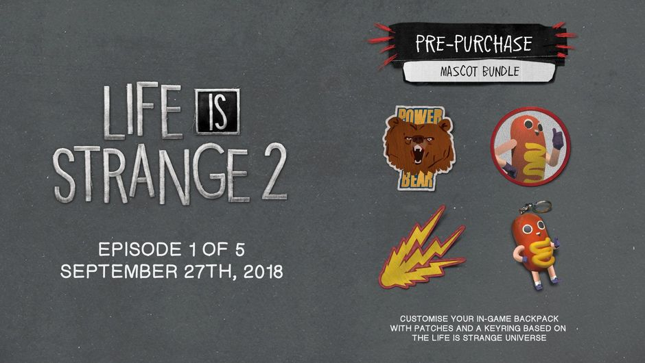 Promotional picture for Life is Strange 2 offering some DLC items