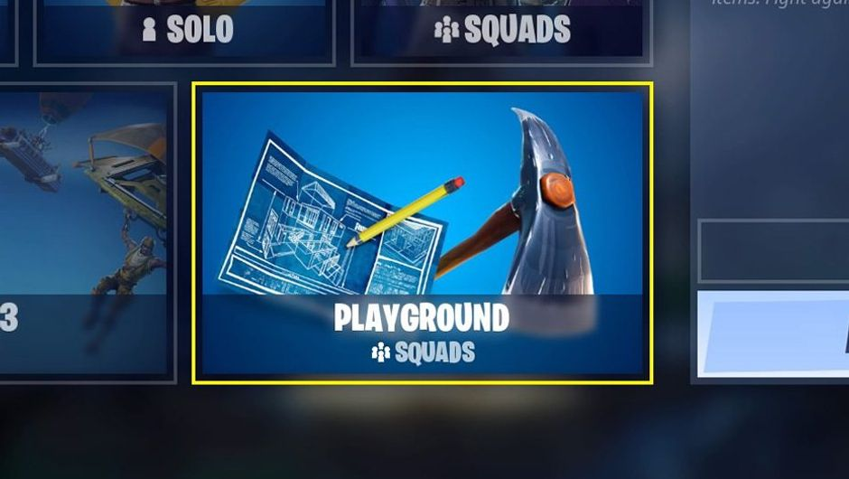 Picture of the limited time mode Playground in Epic Games' Fortnite