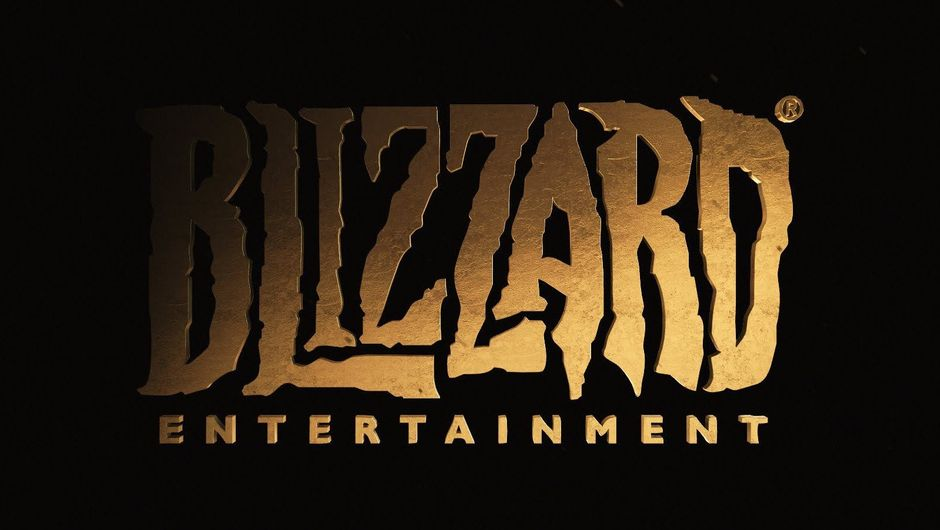 Banner for Blizzard Entertainment in black and gold.