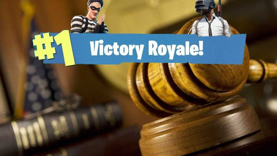 Courtroom hammer with Fortnite's Victory Royale sign on it