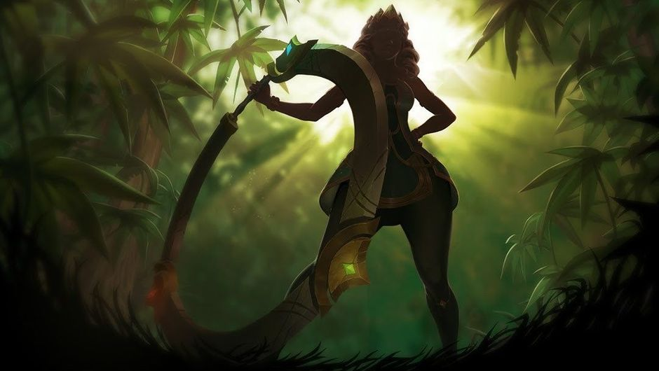 Picture of Qiyana's silhouette in League of Legends