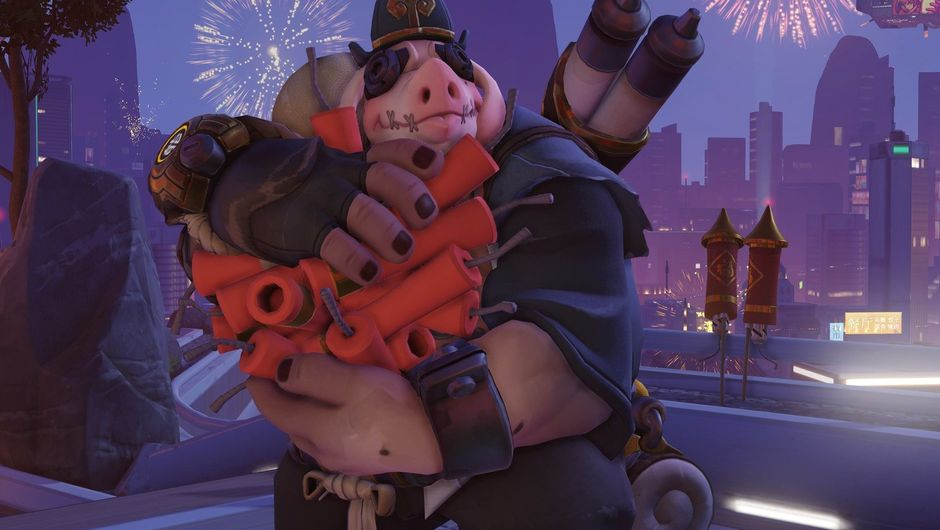 Picture of Roadhog with his Bajie skin