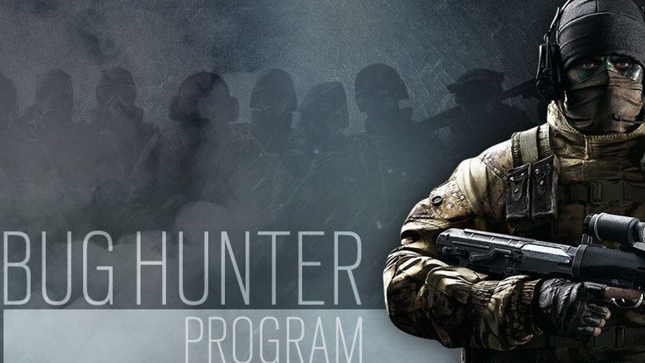 Promotional image for the bug hunter program in Rainbow Six Siege