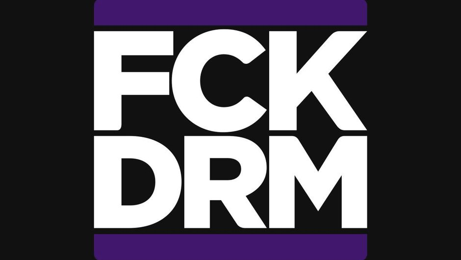 Logo for CD Project and GOG's initiative FCK DRM