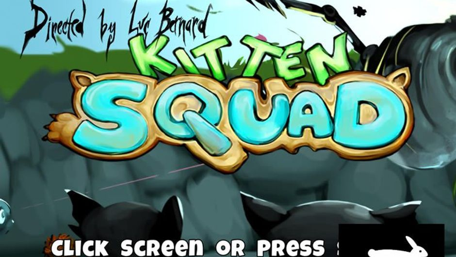 User interface from PETA's game Kitten Squad