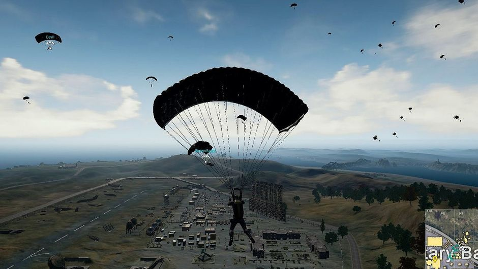 PUBG screenshop with parachute rush