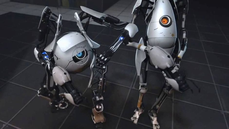 Atlas and P-body flexing in Portal 2
