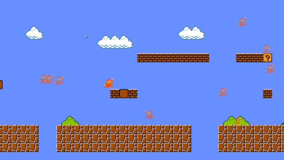 Screenshot from Super Mario Bros. Battle Royale