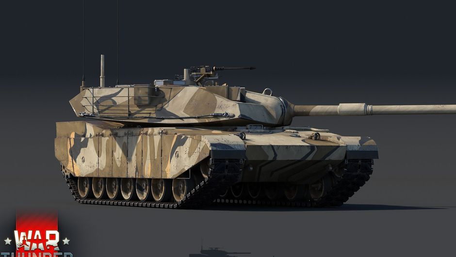 Screenshot of an XM-1 Chrysler tank in War Thunder