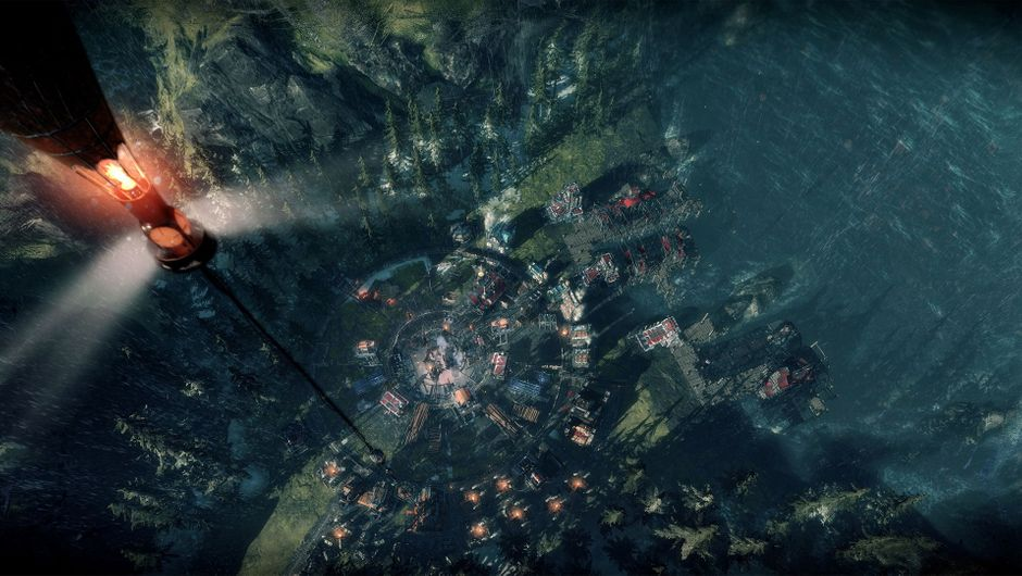 Frostpunk: The Last Autumn city from above