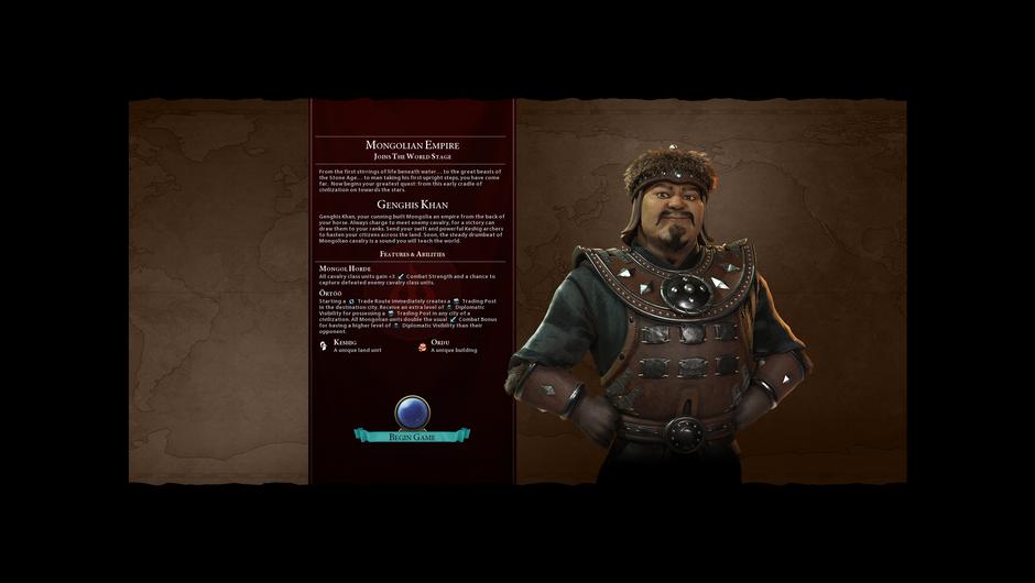 Mongolia's leader Ghenghis Khan likes his calvary