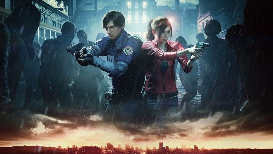 picture showing two characters with guns