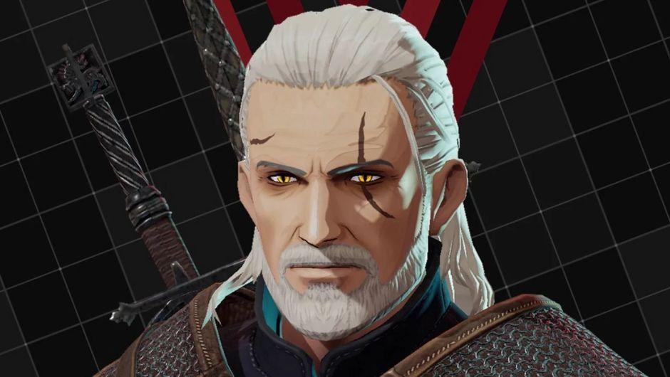 Geralt of Rivia's character model in Daemon X Machina