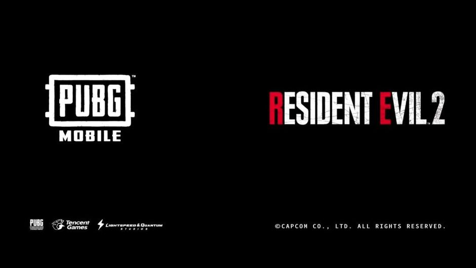 Logos of PUBG Mobile and Resident Evil 2