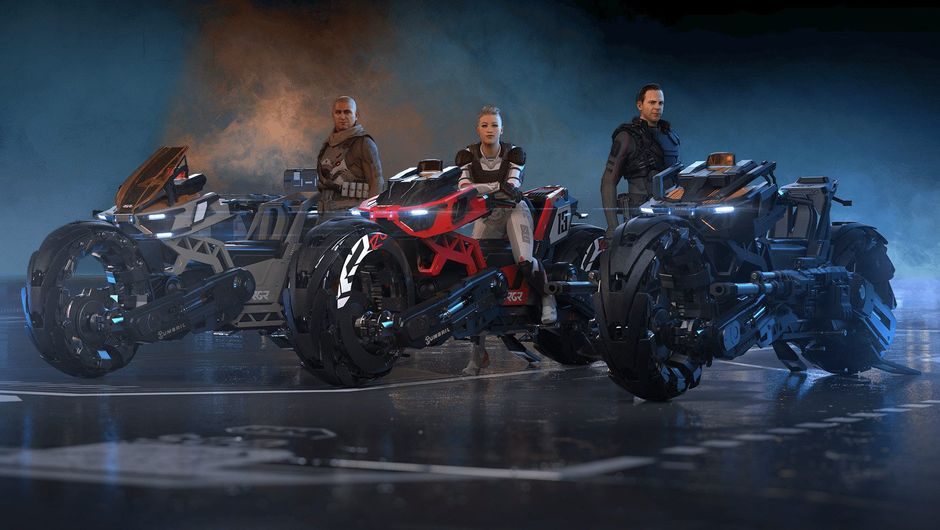 Picture of the three bike variations in Star Citizen
