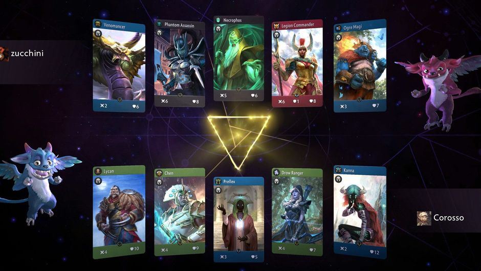 Picture of some heroes in Artifact