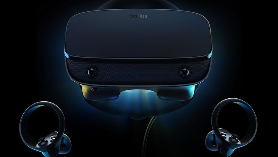Image showing the Oculus Rift S headset and two controllers